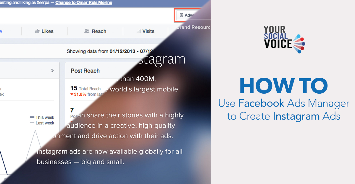 how to create instagram ads through facebook ads manager